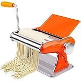 OutingstaRase Pasta Machine Pasta Maker Macchina Manuale Manuale Noodle Maker W 2 Blades e 8 Impostazioni di spessore Perfetto per Spaghetti Lasagna Pasta Cutter (Colore: Giallo, Dimensioni: 20x13.5x1