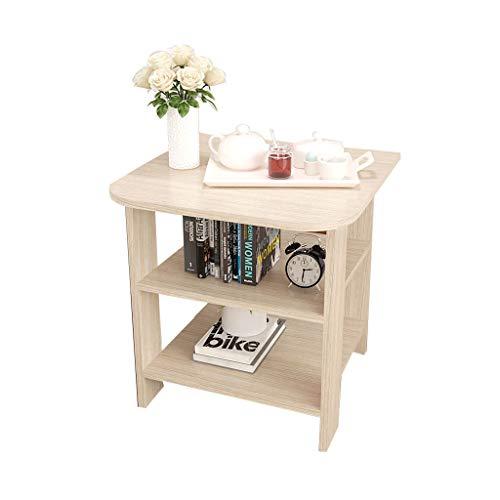 ZPWSNH kleine cofee tafel/bank zijtafel/nachtkast/nachtkastje 3-laags plank plank compacte stijl grootte (40 * 40 * 50cm) opvouwen kleine tafel