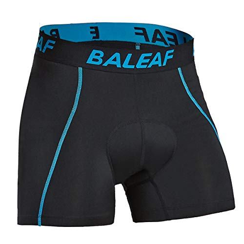 BALEAF Männer Kurze Fahrradhose mit Sitzpolster Fahrrad Unterhose für Radsport Blau L