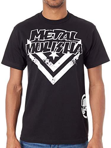Metal Mulisha Schwarz Check T-Shirt (Medium, Schwarz)