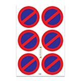 A4 sheet of stickers Ultra-Destructible No Parking - U14