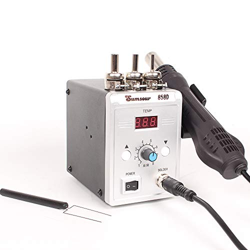 Hot Air Gun 858D 700W BGA Rework Solder Station Soldering Heat Air Gun Station 220V / 110V For SMD SMT Welding Repair Tools