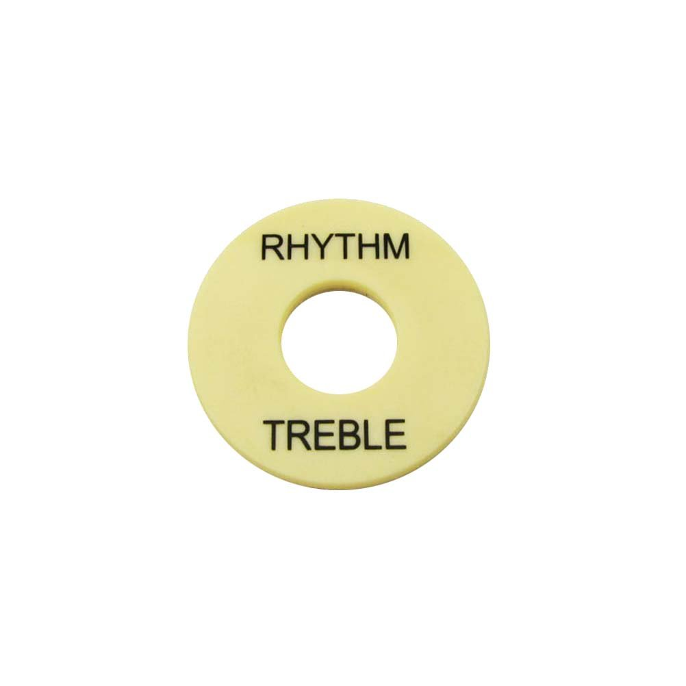 CREAM PLASTIC NEW Rhythm//Treble Ring For Toggle Switch