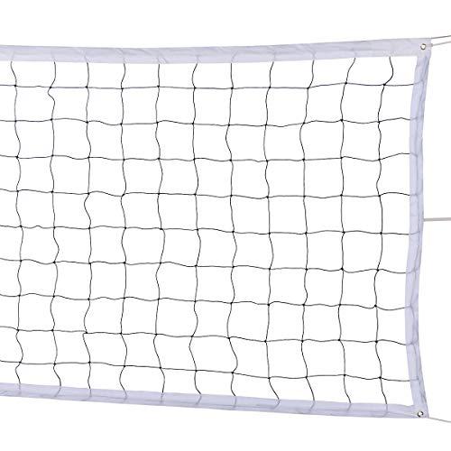 YLOVAN Volleyball-Netz für Pool, Strand, Park, Hinterhof, Outdoor oder Indoor Sport, tragbares Volleyball-Ersatznetz (90 x 90 cm) Stangen nicht im Lieferumfang enthalten