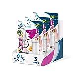 Glade - Ambientador Eléctrico Líquido con aceites esenciales, aroma Relax Zen, hasta 100 días, difusor + recambio [Pack de 3]