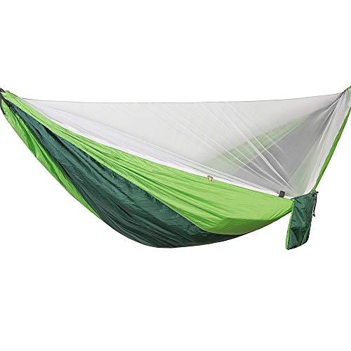 Hamaca para Acampar con Mosquitera - Hamaca Doble Liviana Hamacas Portátiles para Caminatas En Interiores Camping Viajes Lightgreenandgree