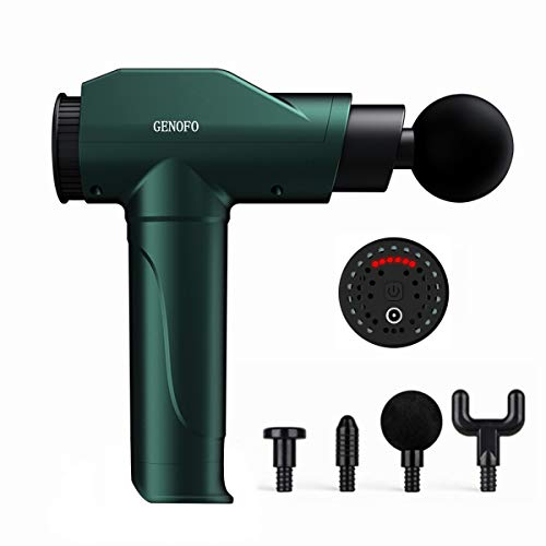 Massage Gun, Portable Handheld Massager Specially for Massage The Muscles or Deep Tissues of Waist, Hips, Back, Neck, Shoulders, Arms, Hands, Legs, Feet to Relief Full Body Muscle Pain