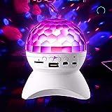 プロジェクターライトカラフルな小型スピーカー携帯電話サウンド大音量ミニ回転ライトボールサブウーファーナイトプロジェクション3Dサラウンドホームクリエイティブスーパーベースワイヤレスフラッシュ (Color : A)
