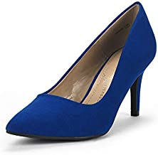 DREAM PAIRS Women's KUCCI Royal Blue Classic Fashion Pointed Toe High Heel Dress Pumps Shoes Size 7.5 M US