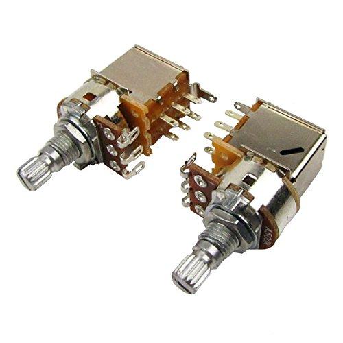 Musiclily Metrisch 15mm A500k Split Shaft Potentiometer Push/Pull Gitarren Poti (2 Stück)