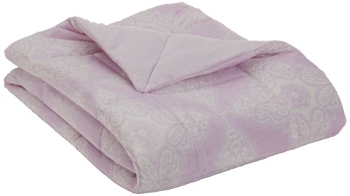 Northpoint Bauhaus Quilted Printed Mink Throw, Lilac Bindi