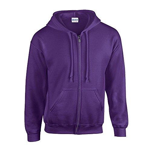 Gildan - Kapuzen Sweat-Jacke 'Heavyweight Full Zip' L,Purple