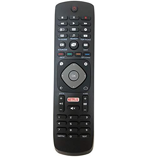 FYCJI Reemplazo Philips Smart TV 996596001555 YKF406-001 Control Remoto, para Philips LCD LED 3D HD TV Inteligente con Botón de Netflix - No se Requiere configuración Control Remoto