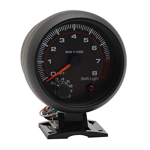 para el Bote de Camiones de Coche 3.75'(90MM) Tacómetro Digital 0~8 × 1000 RPM RPM Gauge Car Gauge