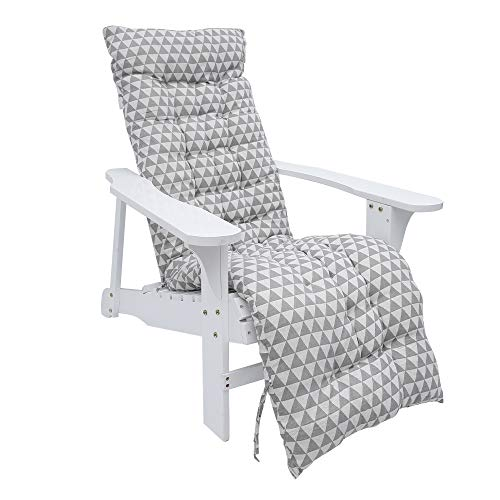 Sun Lounger Cushion Pads Garden Bench Cushion Thick Sunbed Cushions Chair Swing Cushions for Outdoor Indoor Furniture Swing Patio Garden Rattan Chair (Grey 48 x170cm)