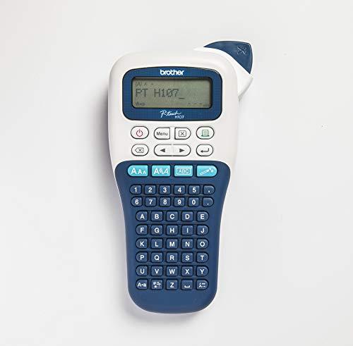 Brother PT-H107B Etichettatrice Portatile per Casa e Ufficio, fino a 12 mm, Velocità di Stampa fino a 20 mm/sec