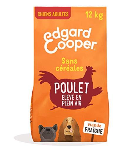 Edgard & Cooper Croquettes Chien Adulte sans Cereales, Nourriture Naturelle 12kg Poulet Frais élevé en Plein Air, Alimentation Saine complète et équilibrée sans Farine de Viande
