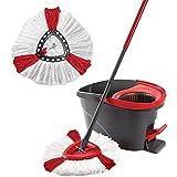 YHL Juego de 2 cubetas con cabezal de fregona, fácil de limpiar,...