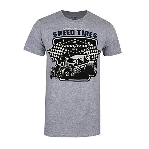 Goodyear Speed Tires T-Shirt, Sports Grey, Medium Uomo
