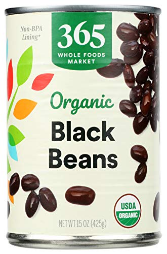 Whole Foods Organic Black Beans, 15 oz