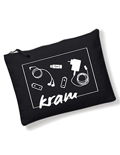 Kram Tasche - vielseitig einsetzbar als Schmicktasche, Kulturbeutel von 3Elfen - handbedruckt in Berlin