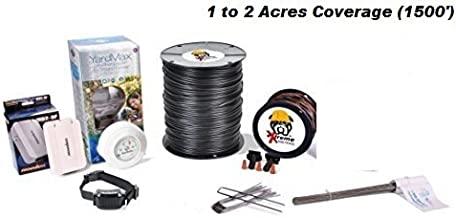 Electric Dog Fence™ PetSafe YardMax Containment System Professional Grade Complete DIY Installation Kit (1 Acre to 2 Acres Coverage Area) (1 Dog Kit)