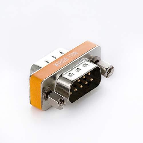 Arnorin Nullmodem Adapter DB9 Serial RS232 Stecker auf Stecker Slimline Daten Transfer Serial Port Adapter