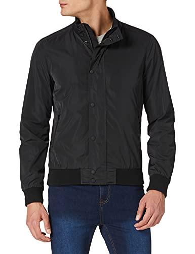 Superdry Men's Studio Harrington Jacket, Black, 2XL