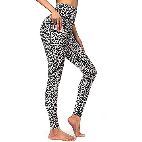N\P Leggings deportivos para mujer con estampado de rayas elásticas para entrenamiento de gimnasio S- Pantalones de running