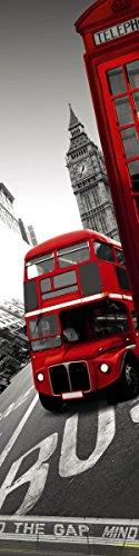 Enorme muursticker/muurtattoo, motief Mind The Bus, 60 x 240 cm, HD, Scenolia