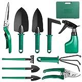 Brynnl Ensemble d'outils de Jardin, 10 pièces Outil à Main de Jardin Kit...