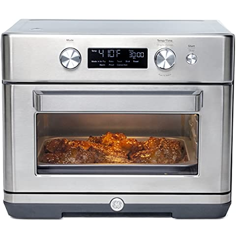 """GE Digital Air Fry 8-in-1 Toaster Oven, Large Capacity Fits 12"""" Pizza, 8 Cook Modes of Air Fry, Bake, Broil, Convection, Keep Warm, Proof, Roast and Toast, Stainless Steel, G9OAAASSPSS"""
