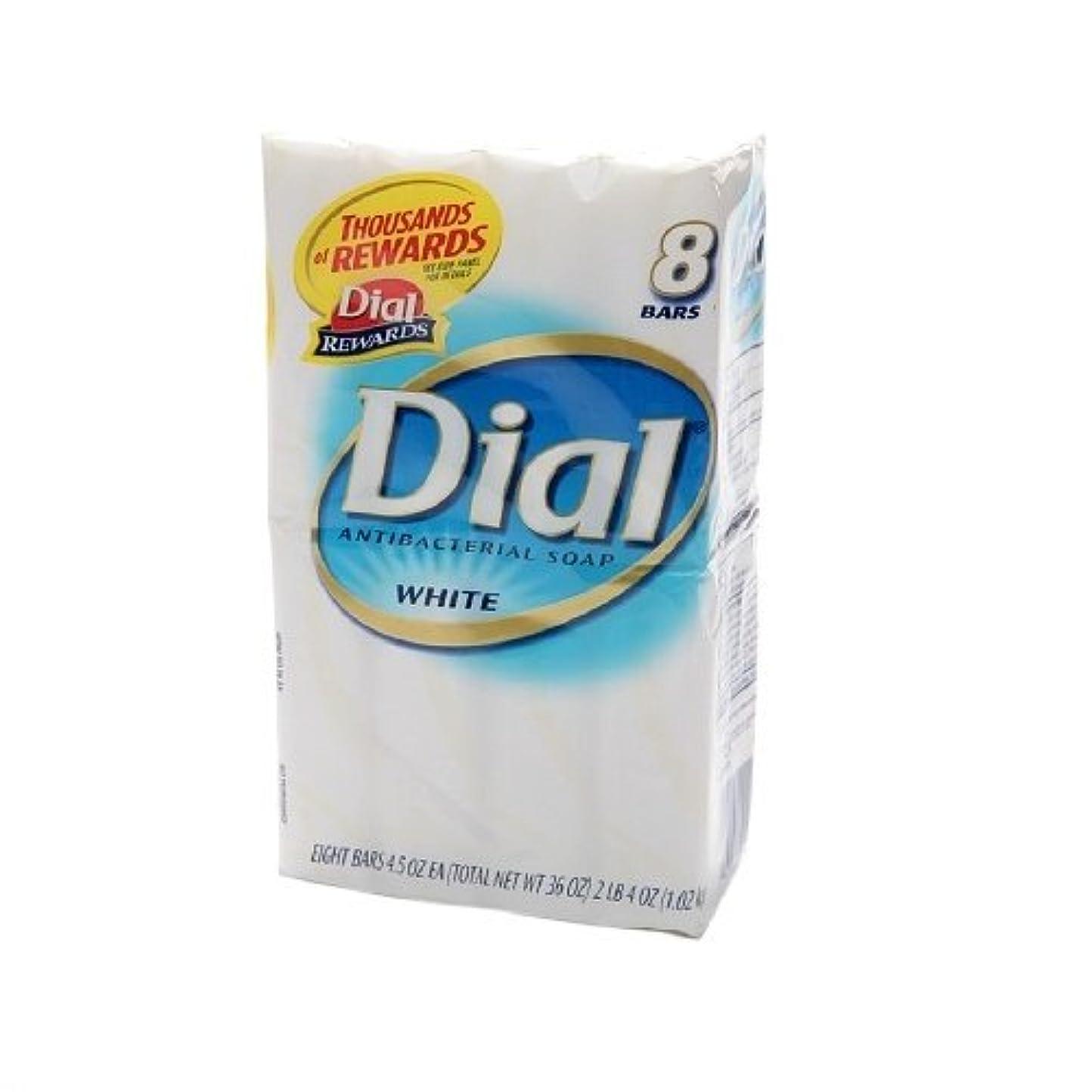 届ける評価する分類Dial 抗菌ホワイトデオドラントソープ、4つのオズバー、8 Eaは