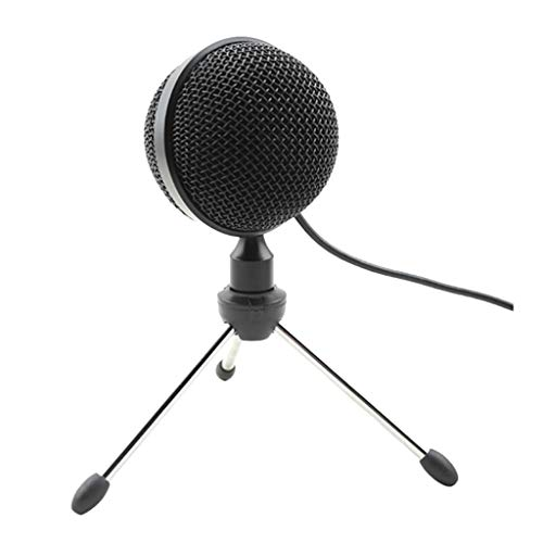 XJJZS Metal USB Condenser Recording Microphone for Laptop MAC or Windows, Live Broadcast