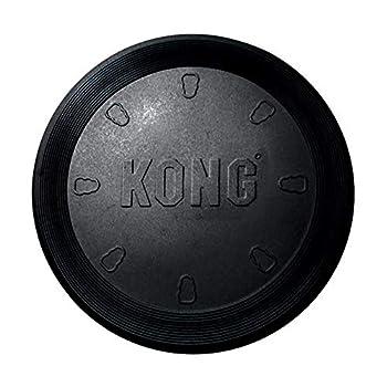 KONG - Extreme Flyer - Caoutchouc Robuste, Disque Volant Doux pour Mâchoires Puissantes, Noir - pour Chien Grande Taille
