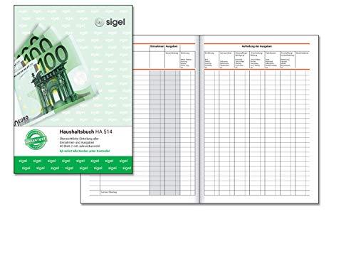 Sigel HA514 Haushaltsbuch zum Eintragen, A5, 80 Seiten