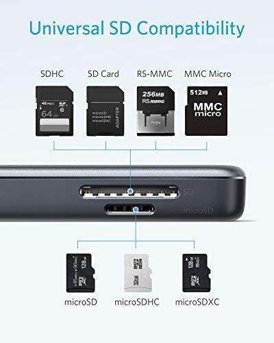 Anker Premium 5-in-1 USB-C Hub, 4K USB-C auf HDMI Adapter, SD/TF Speicherkartenleser, mit 2 USB 3.0 Ports, für MacBook Pro 2016/2017 / 2018, Chromebook, XPS und viele mehr