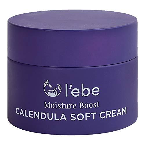 L'ebe Calendula Cream Face Moisturizer for Dry Skin | Soothing Redness &Rosacea | Dry Skin Moisturizer for Sensitive Skin | Hydrating & Calming Flaky Skin | Organic Vegan Natural Ingredients - 1.7 oz