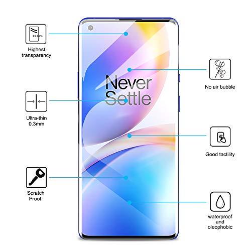 [3 Pack] QITAYO Screen Protector for Oneplus 8 Pro (6.7 inch), TPU HD-Clear [Anti-Scratch] [Case Friendly] Screen Protector Compatible with Oneplus 8 Pro
