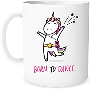 Born to Dance Unicorn Mug   Unicorn Gift for Girls   Dancing Unicorn   11 Ounces Gift Coffee Mug   Christmas Gift For Little Girls Teens Women   Girls Unicorn