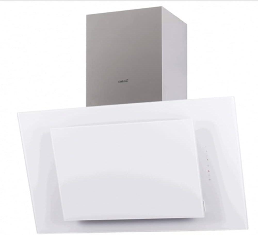 Cata   Campana Decorativa de Pared   Modelo Thalassa 900 XGWH/F   Ancho de 90 cm   6 Niveles de Potencia   Clase de eficiencia Energética A+++   Acabado en Cristal Blanco