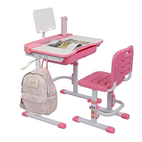 LJYLF Juego de escritorio y silla para niños, 80 cm, mesa de estudio y silla para niños con marco de lectura, mesa de estudio multiusos para niños, mesa de estudio para niños y escuela y hogar
