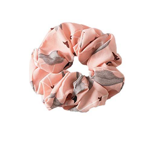 Yahunosu Cintas para el Pelo Elegante de Las señoras Función Suave elástico Multi encantadores de la Manera Simple Ponytail de Accesorios para el Cabello Rosa
