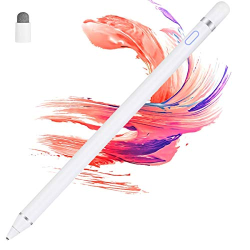 Stylus Pens for Touch Screens - Ctumg Stylus Pens for iPad, Compatible with iPad Pro Mini iPhone 11 Pro XS Max X 8 Samsung Phone Tablet for Drawing Writing (White)