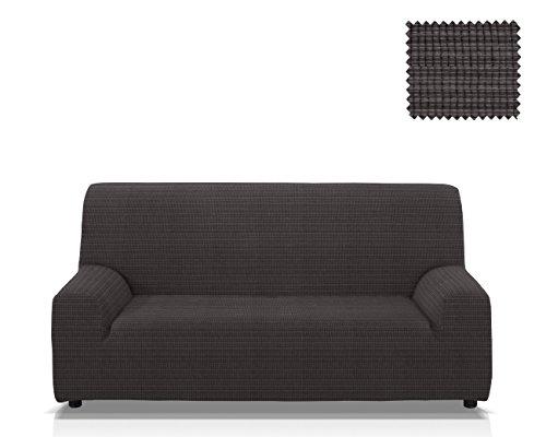 JM Textil Funda de sofá elástica Vulcano, Tamaño 2 plazas (de 115 a 145 Cm.), Color Negro