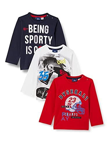 Chicco 3 PZ T.Shirt Manica Lunga 9067621 Set di Magliette per Bambino e Neonato, 000, 7 Anni (Pacco da 3)