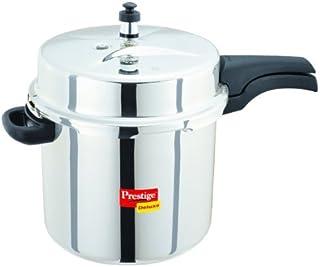 Prestige PDSSPC10 Deluxe Stainless Steel Pressure Cooker, 10 Liter, Silver