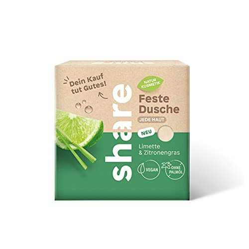 share feste Dusche Limette & Zitronengras, vegan, ohne Mikroplastik, 60 g