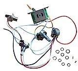 Kit di cablaggio per chitarra elettrica Strat Style, manopole di controllo 2T1V, interruttore a 5 vie, vasetti da 500 K con jack, punta color crema