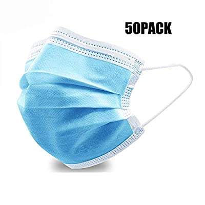 Personal 50PCS Filter 3-ply Face Protection Dust-Proof Anti Spittle Eye Mask for Earloop